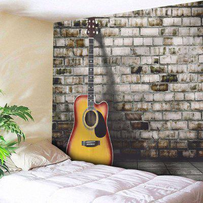 Buy GRAY Guitar Brick Wall Hanging Microfiber Tapestry for $18.28 in GearBest store