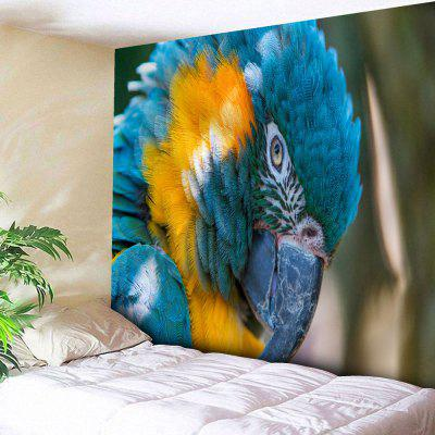 Buy BLUE Microfiber Wall Hanging Parrot Print Animal Tapestry for $18.28 in GearBest store