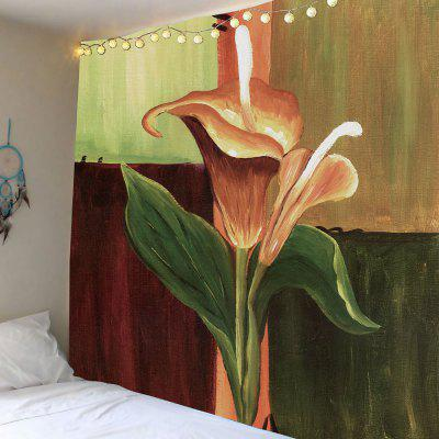 Oil Painting Flower Home Decor Tapestry