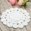 10pcs Hand-shaped Red Heart Shape Crochet Lace Doilies - BRANCO