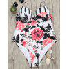 Floral One Piece Underwire Swimsuit - COLORMIX