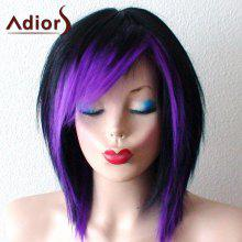 Short Side Bang Ombre Straight Bob Synthetic Wig