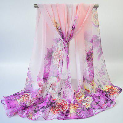 Hand-painted Flowers Bloom Printed Scarf