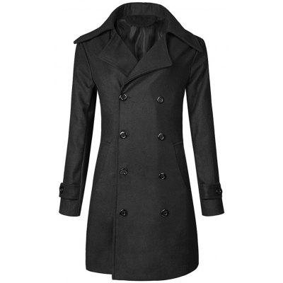 Gearbest Double Breasted Wide Lapel Trench Coat