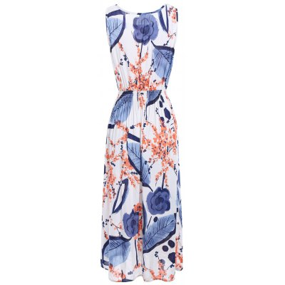 Sleeveless Floral Leaf Ink Print Casual Midi DressWomens Dresses<br>Sleeveless Floral Leaf Ink Print Casual Midi Dress<br><br>Dress Type: Sundress<br>Dresses Length: Mid-Calf<br>Material: Polyester<br>Neckline: Round Collar<br>Package Contents: 1 x Dress<br>Pattern Type: Print, Plant, Floral<br>Placement Print: No<br>Season: Fall, Spring, Summer<br>Silhouette: A-Line<br>Sleeve Length: Sleeveless<br>Style: Casual<br>Weight: 0.2000kg<br>With Belt: No