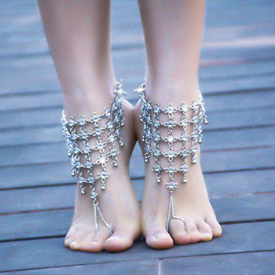 1kc strass chinese slave anklet