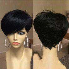 Short Side Bang Shaggy Layered Straight Synthetic Wig