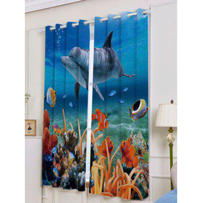 2Pcs Dolphin Ocean Blackout Window CurtainsWindow Treatments<br>2Pcs Dolphin Ocean Blackout Window Curtains<br><br>Applicable Window Type: French Window<br>Function: Blackout<br>Installation Type: Ceiling Installation<br>Location: Window<br>Material: Polyester / Cotton<br>Opening and Closing Method: Left and Right Biparting Open<br>Package Contents: 2 x Window Curtains<br>Processing: Punching<br>Processing Accessories Cost: Excluded<br>Style: Europe<br>Type: Curtain<br>Use: Cafe, Home, Hotel, Office, Hospital<br>Weight: 1.2000kg
