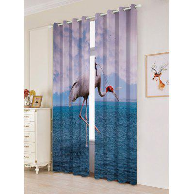 2 Panels Flamingo Sea Blackout Window CurtainsWindow Treatments<br>2 Panels Flamingo Sea Blackout Window Curtains<br><br>Applicable Window Type: French Window<br>Function: Blackout<br>Installation Type: Ceiling Installation<br>Location: Window<br>Material: Polyester / Cotton<br>Opening and Closing Method: Left and Right Biparting Open<br>Package Contents: 2 x Window Curtains<br>Processing: Punching<br>Processing Accessories Cost: Excluded<br>Style: European and American Style<br>Type: Curtain<br>Use: Cafe, Home, Hotel, Office, Hospital<br>Weight: 1.2000kg