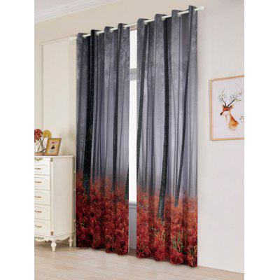 2 Panels Forest Maple Leaf Blackout Window CurtainsWindow Treatments<br>2 Panels Forest Maple Leaf Blackout Window Curtains<br><br>Applicable Window Type: French Window<br>Function: Blackout<br>Installation Type: Ceiling Installation<br>Location: Window<br>Material: Polyester / Cotton<br>Opening and Closing Method: Left and Right Biparting Open<br>Package Contents: 2 x Window Curtains<br>Processing: Punching<br>Processing Accessories Cost: Excluded<br>Style: European and American Style<br>Type: Curtain<br>Use: Cafe, Home, Hotel, Office, Hospital<br>Weight: 1.2000kg