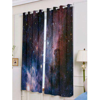 2 Pcs Universe Space Blackout Window CurtainsWindow Treatments<br>2 Pcs Universe Space Blackout Window Curtains<br><br>Applicable Window Type: French Window<br>Function: Blackout<br>Installation Type: Ceiling Installation<br>Location: Window<br>Material: Polyester / Cotton<br>Opening and Closing Method: Left and Right Biparting Open<br>Package Contents: 2 x Window Curtains<br>Processing: Punching<br>Processing Accessories Cost: Excluded<br>Style: European and American Style<br>Type: Curtain<br>Use: Cafe, Home, Hotel, Office, Hospital<br>Weight: 1.2000kg