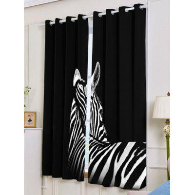 Zebra Blackout 2 Panel Thermal Insulated Window CurtainWindow Treatments<br>Zebra Blackout 2 Panel Thermal Insulated Window Curtain<br><br>Applicable Window Type: Flat Window<br>Function: Blackout<br>Installation Type: Ceiling Installation<br>Location: Window<br>Material: Polyester / Cotton<br>Opening and Closing Method: Left and Right Biparting Open<br>Package Contents: 2 x Curtains?Panel?<br>Processing: Punching<br>Processing Accessories Cost: Excluded<br>Style: Modern<br>Type: Curtain<br>Use: Cafe, Home, Hotel, Office, Hospital<br>Weight: 1.2000kg