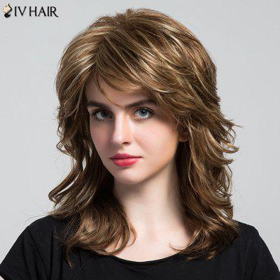Siv Hair Long Side Bang Highlight Layered Wavy Hair Hair Wig