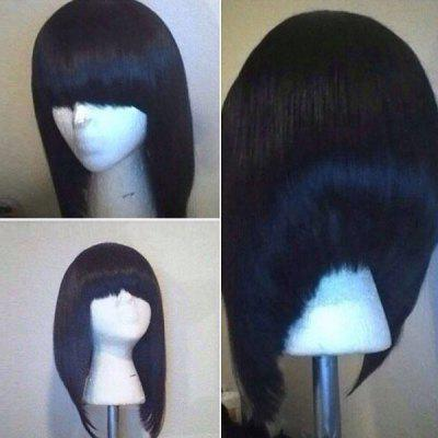 Peruca Sintética Bob Full Low High Straight Bob