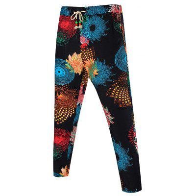 Buy COLORMIX Kaleidoscope Print Drawstring Waist Pocket Pants for $20.64 in GearBest store