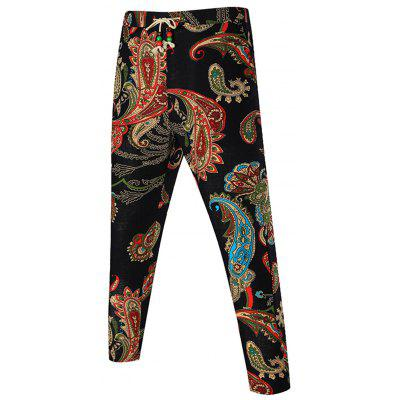 Buy COLORMIX Paisley Print Drawstring Waist Pants for $20.64 in GearBest store