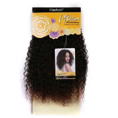 Buy BLACK Medium Shaggy Afro Kinky Curly Synthetic Hair Weft for $14.46 in GearBest store