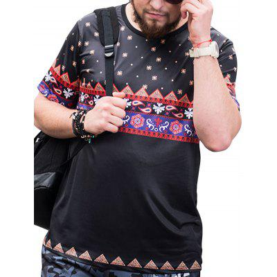 Tribal Pattern Plus Size T-shirt