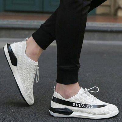 Buy WHITE 43 Color Block Breathable Mesh Sneakers for $40.99 in GearBest store