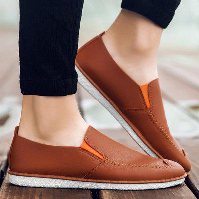 Faux Leather Casual Shoes