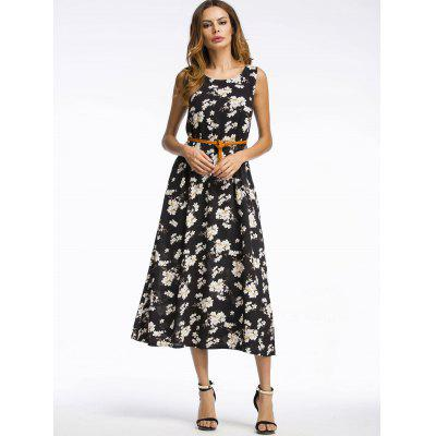Bohemian Daisy Print Midi DressWomens Dresses<br>Bohemian Daisy Print Midi Dress<br><br>Dresses Length: Mid-Calf<br>Material: Polyester<br>Neckline: Round Collar<br>Package Contents: 1 x Dress  1 x Belt<br>Pattern Type: Floral<br>Season: Summer<br>Silhouette: A-Line<br>Sleeve Length: Sleeveless<br>Style: Bohemian<br>Weight: 0.2500kg<br>With Belt: Yes