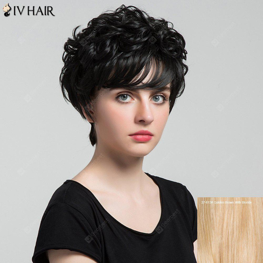 Siv Hair Short Side Bang Shaggy Curly Layered Hair Hair Wig