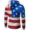 Hooded Distressed American Flag Print Hoodie - COLORMIX