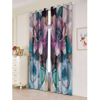 2Pcs Floral Window Blackout Curtain For BedroomWindow Treatments<br>2Pcs Floral Window Blackout Curtain For Bedroom<br><br>Applicable Window Type: Flat Window<br>Function: Blackout<br>Installation Type: Ceiling Installation<br>Location: Window<br>Material: Polyester / Cotton<br>Opening and Closing Method: Left and Right Biparting Open<br>Package Contents: 2 x Curtains?Panel?<br>Pattern Type: Floral<br>Processing: Punching<br>Processing Accessories Cost: Excluded<br>Style: European and American Style<br>Type: Curtain<br>Use: Cafe, Hospital, Hotel, Office, Home<br>Weight: 1.2000kg