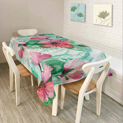 Oil Painting Floral Print Table Cloth
