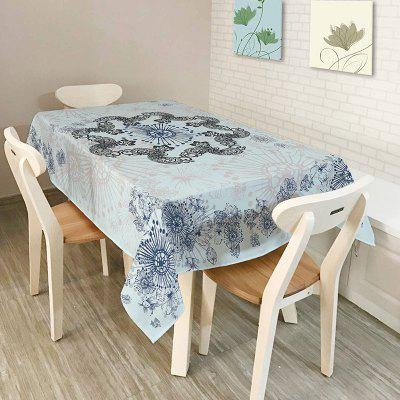 Bohemian Mandala Print Polyester Table Cloth
