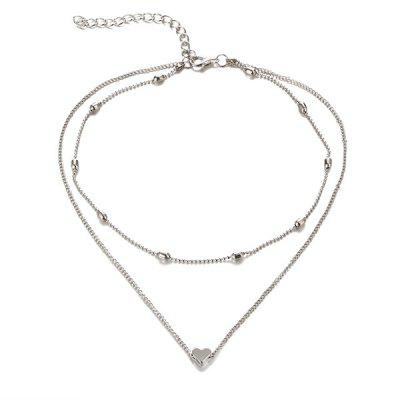 Heart Collarbone Layered Necklace