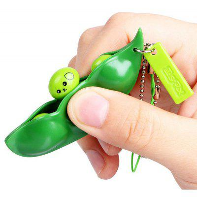 1 PC Squeeze Beans Anti Stress Toy with Keychain