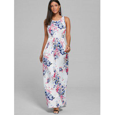 Maxi Floral Print A Line DressWomens Dresses<br>Maxi Floral Print A Line Dress<br><br>Dresses Length: Floor-Length<br>Material: Polyester, Viscose<br>Neckline: Round Collar<br>Package Contents: 1 x Dress<br>Pattern Type: Floral<br>Season: Summer<br>Silhouette: A-Line<br>Sleeve Length: Sleeveless<br>Style: Bohemian<br>Weight: 0.4500kg<br>With Belt: No
