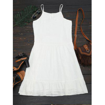 Embroidered Ruffles Lined Midi DressWomens Dresses<br>Embroidered Ruffles Lined Midi Dress<br><br>Dresses Length: Mid-Calf<br>Embellishment: Embroidery,Ruffles<br>Material: Cotton, Polyester<br>Neckline: Spaghetti Strap<br>Occasion: Beach and Summer, Causal, Day, Going Out<br>Package Contents: 1 x Dress<br>Pattern Type: Others<br>Season: Summer<br>Silhouette: A-Line<br>Sleeve Length: Sleeveless<br>Style: Casual<br>Weight: 0.3300kg<br>With Belt: No