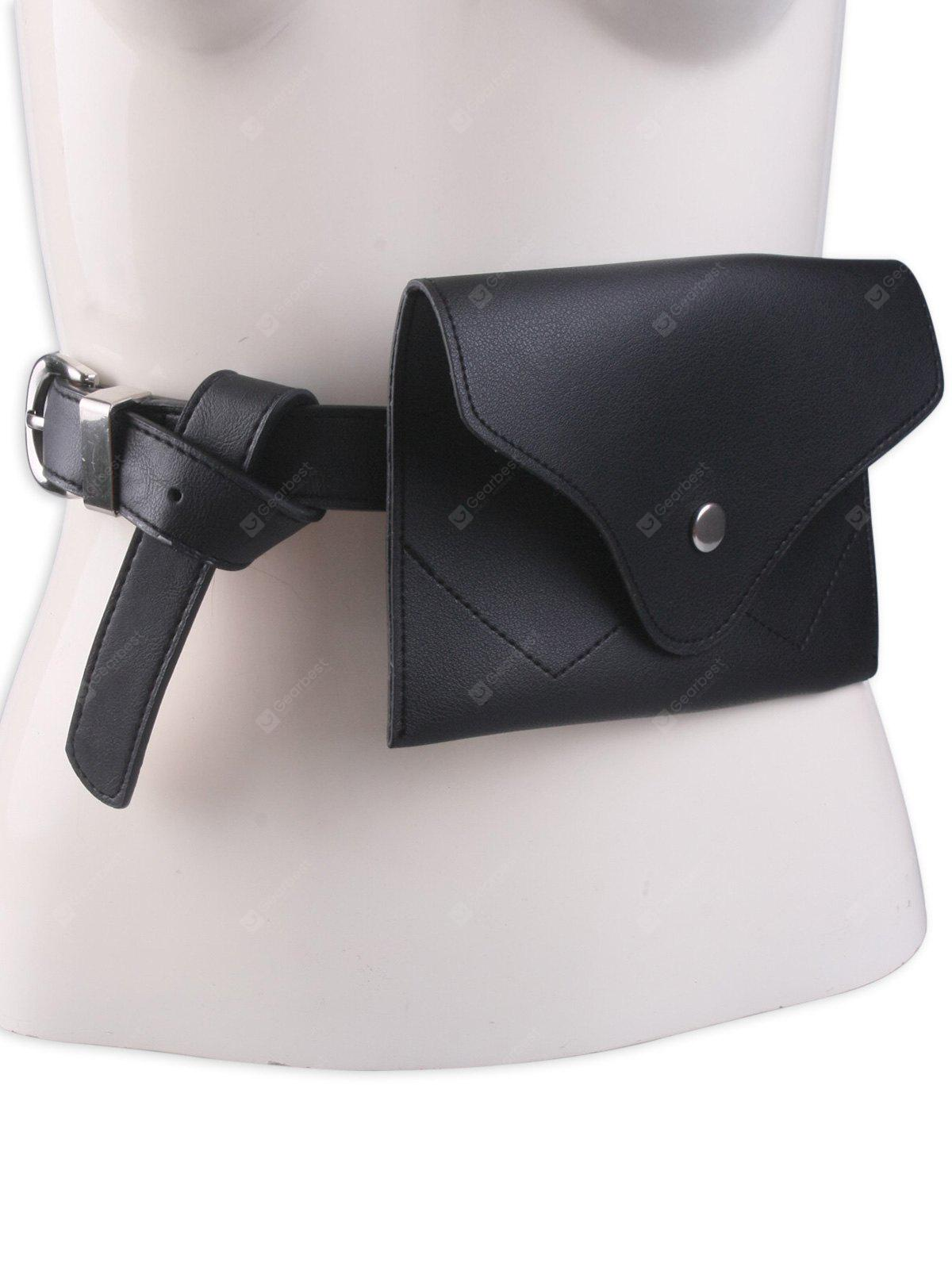 Pin Buckle Faux Leather Waist Belt Bag
