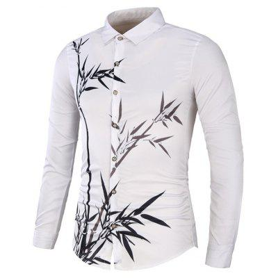 Bamboo Printed Slim Fit Shirt