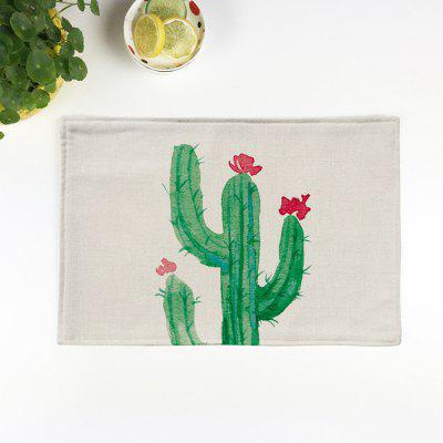 Cactus Printed Heat Insulation Table Placemat