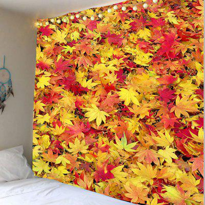 Maple Leaf Print Wall Hanging Tapestry