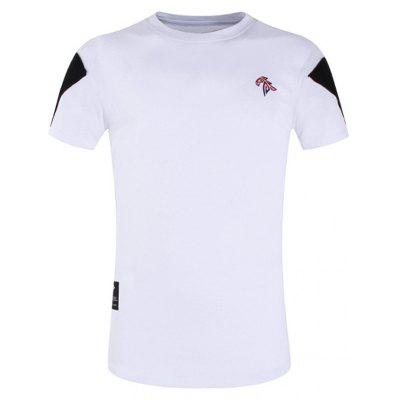 Buy WHITE 3XL Back Zipper Design Color Splicing T-shirt for $15.73 in GearBest store