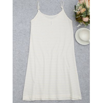 Keyhole Striped Cami Sleep DressPajamas<br>Keyhole Striped Cami Sleep Dress<br><br>Material: Bamboo Fiber<br>Package Contents: 1 x Loungewear<br>Pattern Type: Others<br>Weight: 0.2700kg