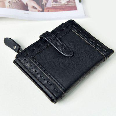 Stitching Faux Leather Small Wallet