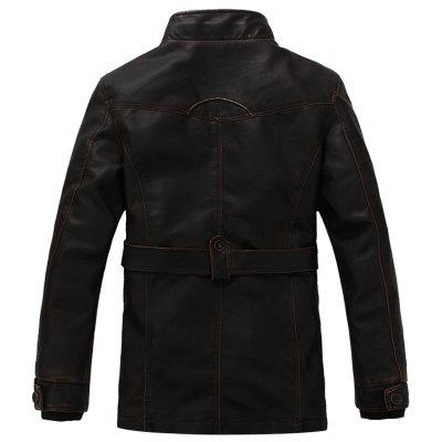 Stand Collar Rib Panel Zip Up PU Leather Fleece CoatMens Clothing<br>Stand Collar Rib Panel Zip Up PU Leather Fleece Coat<br><br>Clothes Type: Leather &amp; Suede<br>Collar: Stand Collar<br>Material: Cotton, Faux Leather<br>Package Contents: 1 x Coat<br>Season: Winter<br>Shirt Length: Long<br>Sleeve Length: Long Sleeves<br>Style: Fashion, Casual<br>Weight: 1.4140kg