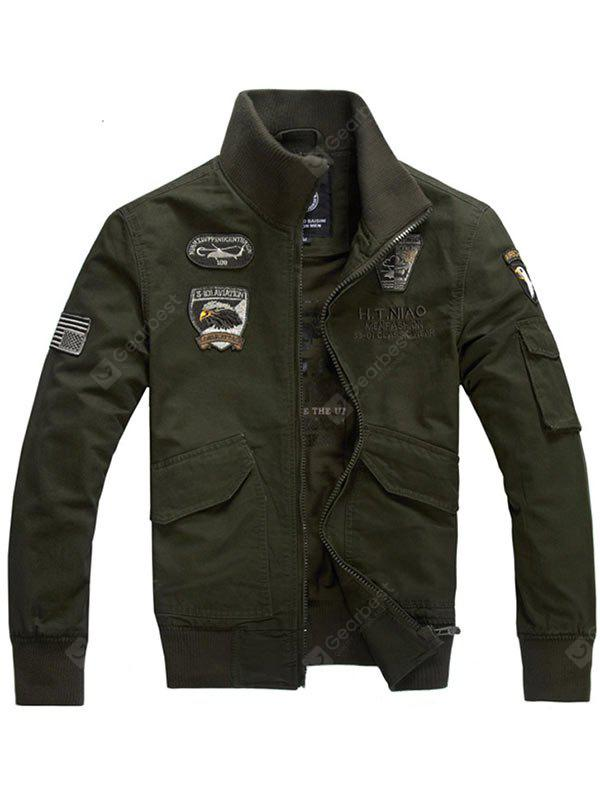 Eagle Embroidery Zip Up Jacket