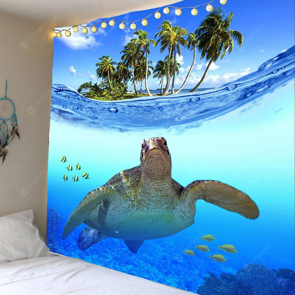 Sea Turtle Palm Fish Print Wall Hanging Tapestry