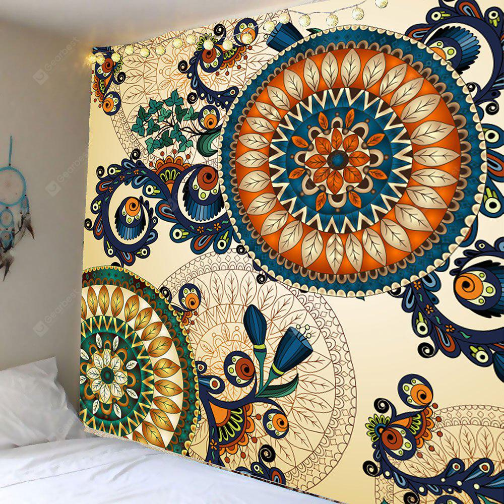 Ethnic Floral Print Wall Hanging Tapestry
