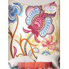 Floral Phoenix Print Wall Hanging Tapestry - FARBIG