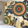 Ethnic Floral Print Wall Hanging Tapestry - COLORFUL