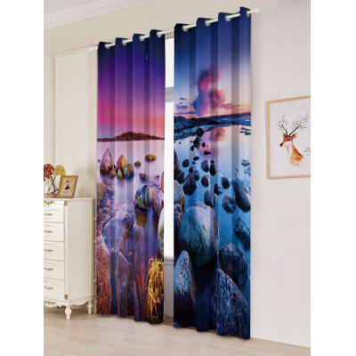 Seaside Sunset 2Pcs Blackout Curtain Window TreatmentWindow Treatments<br>Seaside Sunset 2Pcs Blackout Curtain Window Treatment<br><br>Applicable Window Type: Flat Window<br>Function: Blackout<br>Installation Type: Ceiling Installation<br>Location: Window<br>Material: Polyester / Cotton<br>Opening and Closing Method: Left and Right Biparting Open<br>Package Contents: 2 x Curtains?Panel?<br>Pattern Type: Scenic<br>Processing: Punching<br>Processing Accessories Cost: Excluded<br>Style: Modern<br>Type: Curtain<br>Use: Cafe, Hospital, Hotel, Office, Home<br>Weight: 1.2000kg
