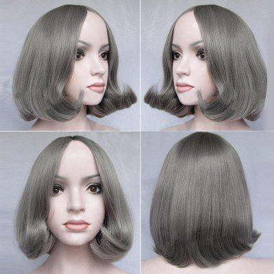 Short Middle Part Tail Adduction Straight Bob peruca sintética
