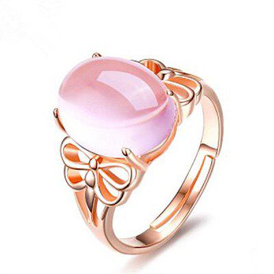 Faux Crystal Gem Dragonfly Oval Ring